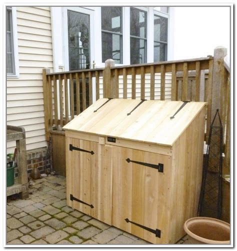 Outdoor Trash Can Storage Cabinet Home Design Ideas