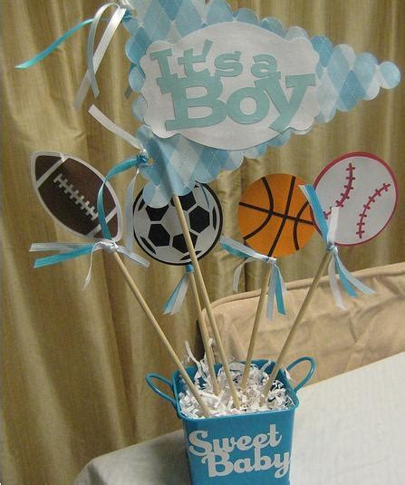 Baby Shower Sports Centerpieces by Centerpiece Option Baby Shower Sports Theme