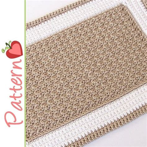 rectangle rug crochet pattern pdf a to stitch project
