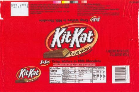 Kitkat Label Template kit chocolate bar nutrition facts nutrition ftempo