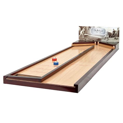 best wood for shuffleboard table chh wooden rebound shuffleboard table top game at hayneedle