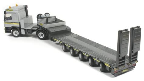 black doll trailer miniature construction world doll 5 axle low bed trailer