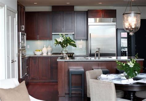 Size Of Kitchen Island With Seating cherry kitchen cabinets contemporary kitchen