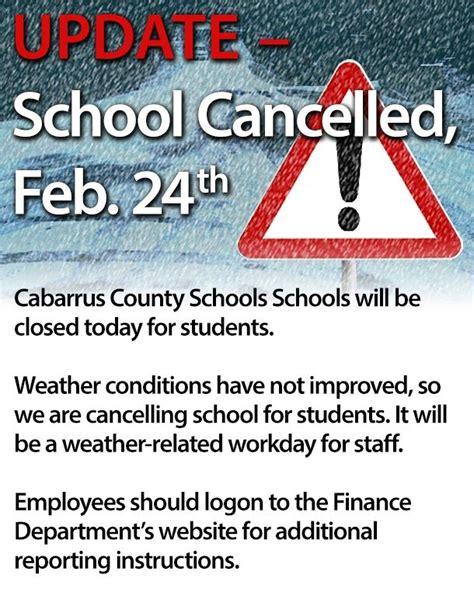 Cabarrus County Schools Calendar Snow Cabarrus County And Kannapolis Schools Closed Today