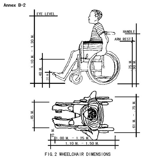 dimensions of a wheelchair