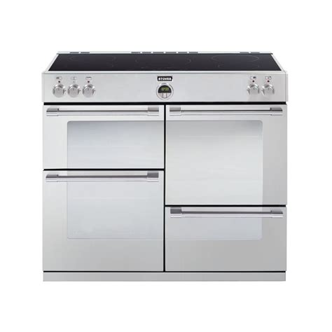 electric induction freestanding cookers stoves sterling 1100ei 110cm electric induction range cooker stainless steel stoves from
