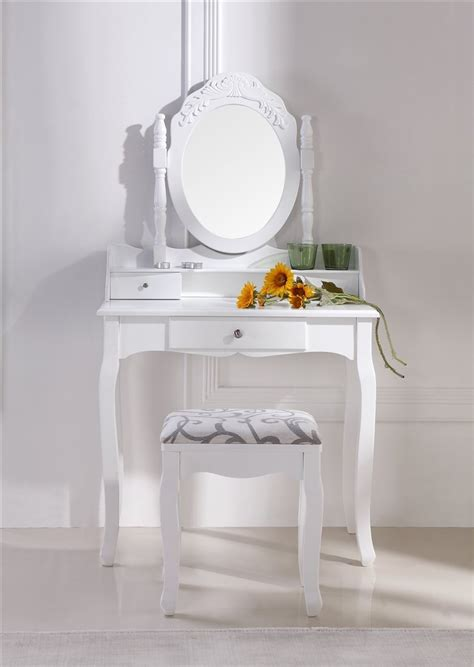 coiffeuse blanche avec si 232 ge et miroir 35 f