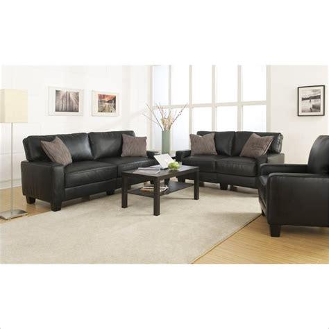 santa sofa set serta santa rosa 2 sofa set in black bonded leather