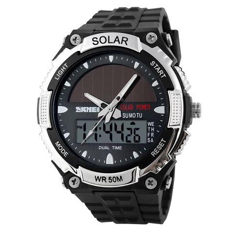 Jam Tangan Pria Skmei Sport Analog Led Water Resistant skmei jam tangan solar digital analog pria ad1049e