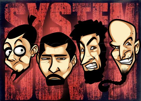 how to draw system of a down step by step music pop