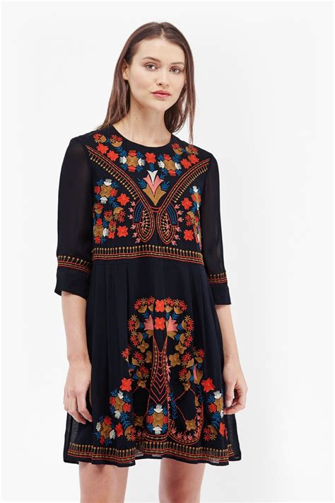 Smock Top Floral Dress Like Gucci by Colourful Kiko Embroidered Smock Dress Collections