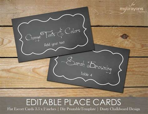 Chalkboard Card Template by Chalkboard Wedding Place Cards And Wedding Templates On