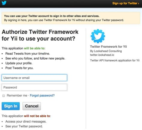 yii hoauth tutorial building with the twitter api oauth reading and posting