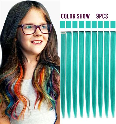 colored hair extensions clip in rhyme teal hair pieces colored hair extensions clip in on