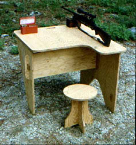 plywood shooting bench portable plywood shooting bench plans woodideas
