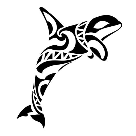 tribal whale tattoo of killer whale lethal custom