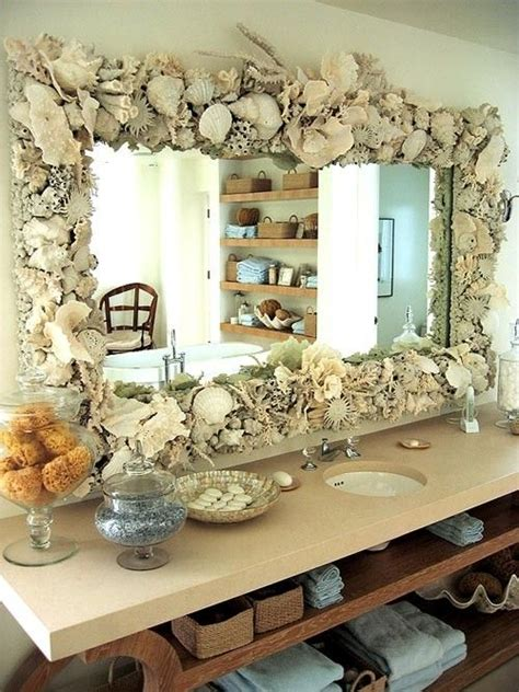 shell bathroom mirror pin by tina on home decor pinterest