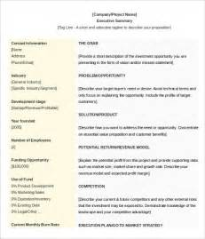 Work Summary Template by 31 Executive Summary Templates Free Sle Exle