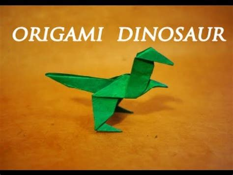 Simple Origami Dinosaur - how to make an easy origami dinosaur dinosaur