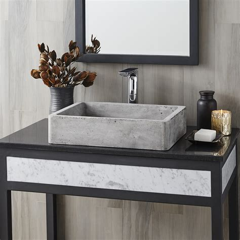 nipomo rectangular nativestone 174 bathroom sink trails