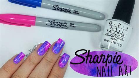 Nail Markers nail tutorial how to do sharpie watercolor nail