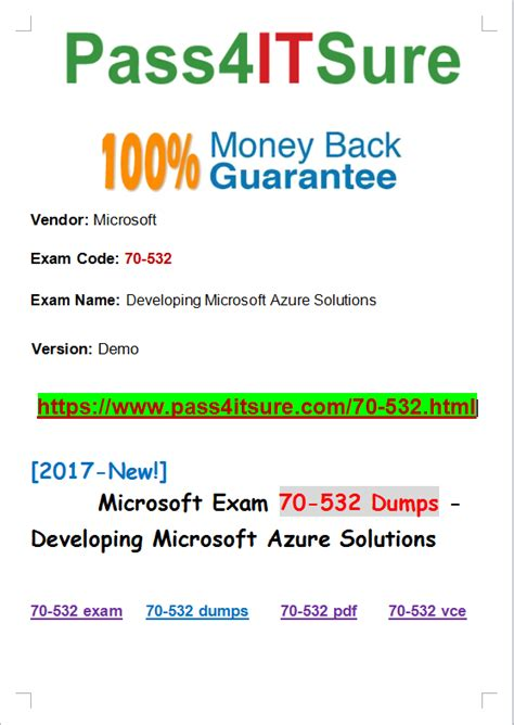 Pdf 70 532 Developing Microsoft Azure Solutions by Microsoft Update September New Released Microsoft