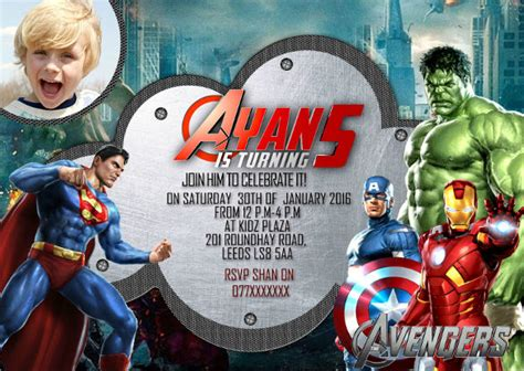 Marvel Birthday Card Template by 34 Birthday Invitation Templates Free Sle