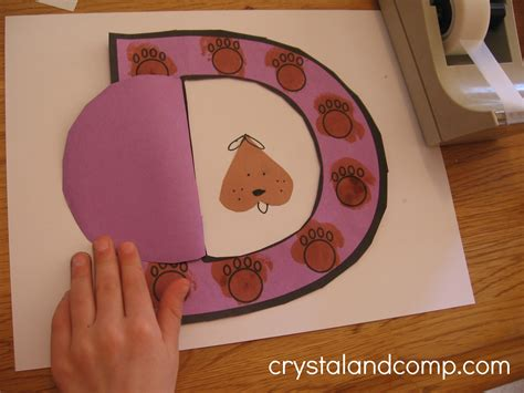 craft activity for letter of the week d is for doghouse preschool craft