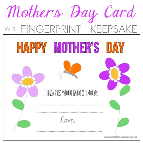 Religious Mothers Day Card Template by S Day Bible Printables Christian Preschool Printables