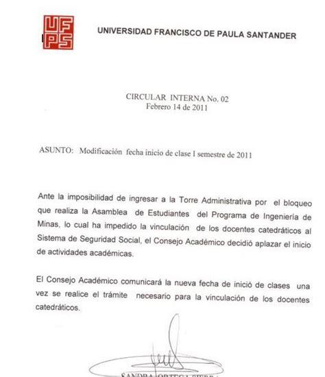 carta de cancelacion semestre las noticias de villa rosario y la frontera se modifica la fecha de inicio de clase para el