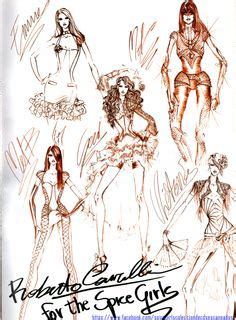 More Cavalli Design Sketches For Spice Tour The Union Is Back by Fashion Sketches On Fashion Sketches