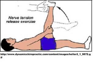 Sciatic nerve massage adjacent to but not on sciatic nerve