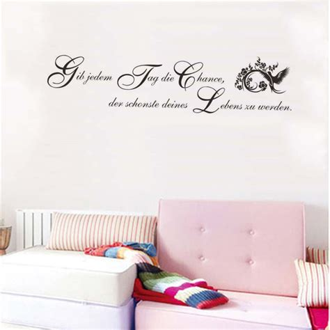 wall decals for girl bedroom aliexpress com buy german inspirational quotes wall