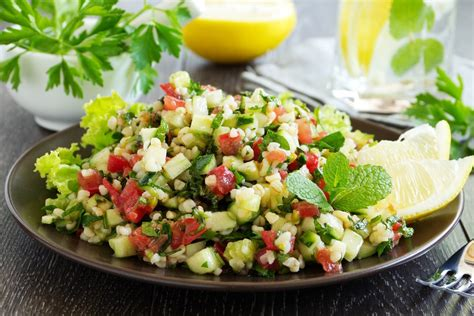 lemon mint and tabbouleh salad recipe epicurious com