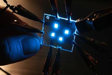 organic light emitting diodes using a laser lift method efficiency of blue organic light emitting diode boosted by 25 sciencedaily