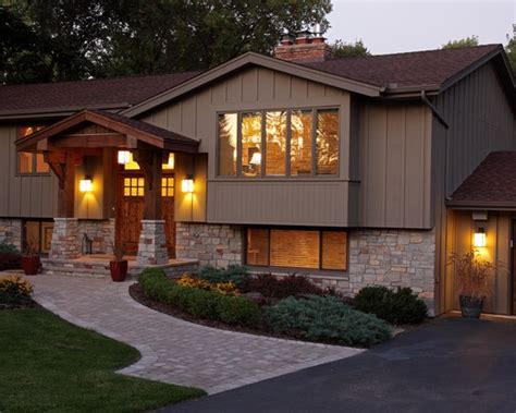 home entry ideas exterior split level facelift design pictures remodel