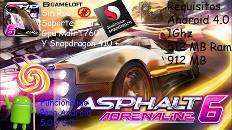 asphalt 6 adrenaline hd apk free asphalt 6 adrenaline hd apk datos sd actualizado