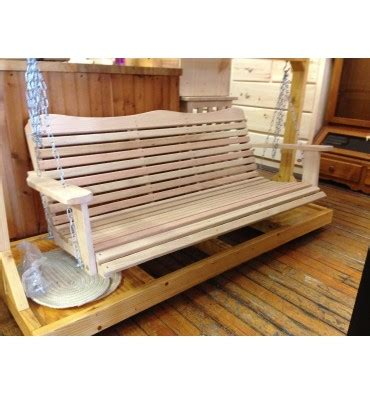 5 foot wooden swing 5 foot cypress porch swing wood n things furniture