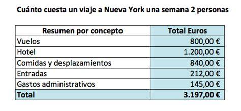 cuanto cobran en 2016 los plan crecer incineraci 243 n cu 225 nto cuesta un viaje a nueva york todos los conceptos