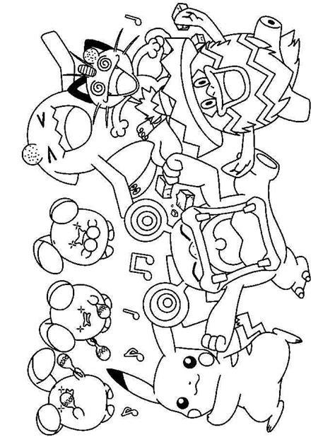 colorear pokemon 56 dibujo colorear