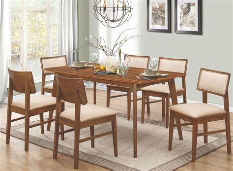 rectangle dining room sets sasha walnut rectangular dining room set from coaster