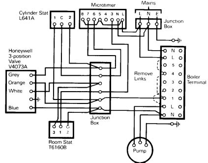 honeywell central heating wiring diagram wiring diagram