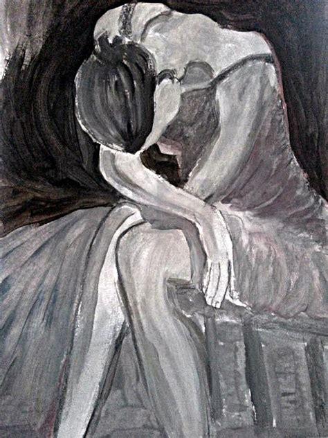 art dinca balerina obosita painting by farfallina art gabriela dinca