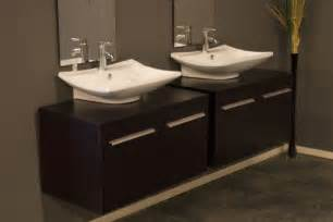 Modern bathroom double vanities in interior designs modern pictures