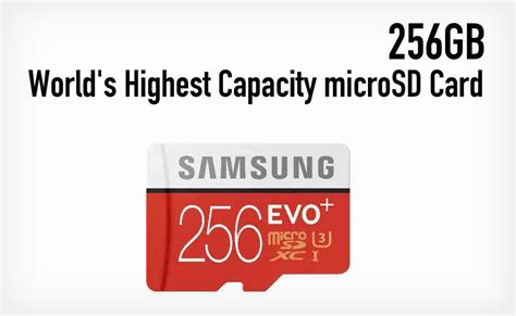 Memory Card Samsung 256gb Samsung Launches World S Highest Capacity 256gb Microsd Card