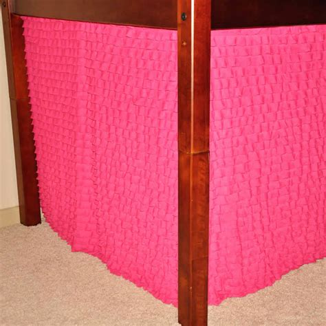 bunk bed playhouse curtains hot pink ruffle playhouse w maxtrix kids bunk or loft bed