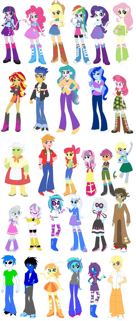 the color of friendship cast equestria character chart by sketchy hooves on