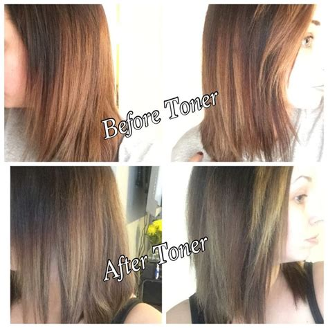 toner after bleaching copper hair wella t14 toner before after dark brown hairs