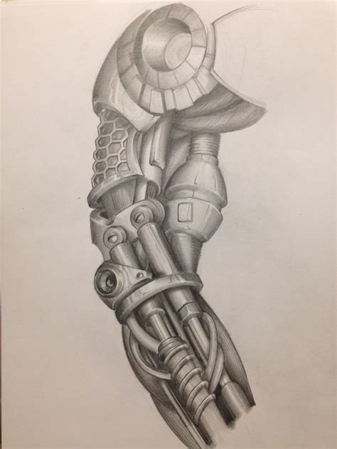 tattoo designs mechanical arm cyborg mechanic biomechanic drawing