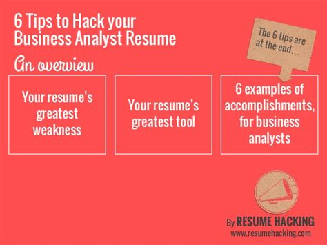 6 tips on how to tailor your resume 6 tips to your business analyst resume
